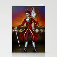 captain hook Stationery Cards featuring Captain Hook by Callie Clara