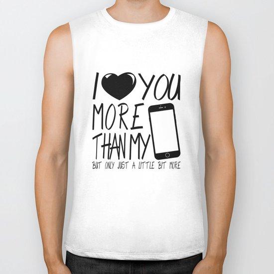 Valentine gift - I Love you more Biker Tank