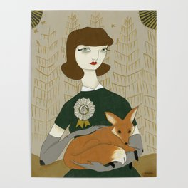 Depending upon the nature of the beast - girl with fox Poster