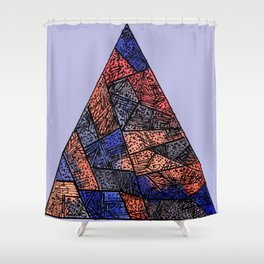 Hipster Pyramid Shower Curtain
