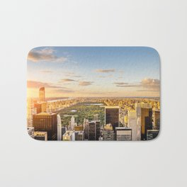 Central park at sunset - aerial view Bath Mat