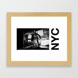 taxi N.Y Framed Art Print