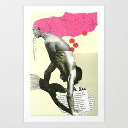 el hombre del doble tronco Art Print