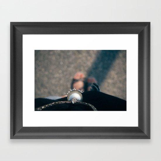 little world Framed Art Print