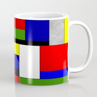mondrian Mugs featuring Mondrian #4 by Ron Trickett