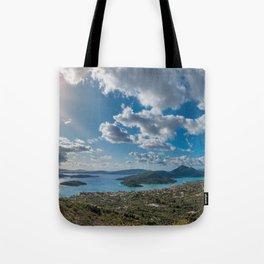 Nidri bay in Lefkas Tote Bag
