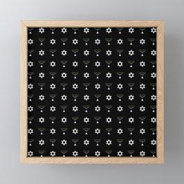 Menorah 19 Framed Mini Art Print