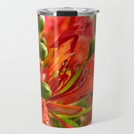 Red flame tree 290 Travel Mug