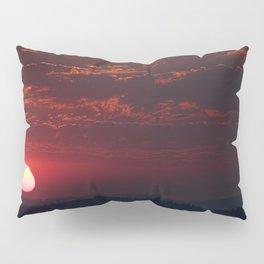Pink Sun Pillow Sham