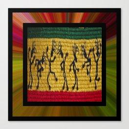 lively up reggae dancers (square) Canvas Print