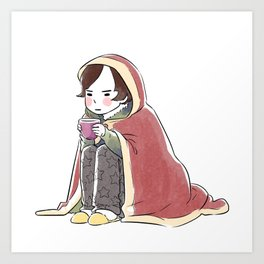 Grumpy Gail Wants To Sleep Art Print