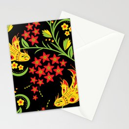 Fish khokhloma Stationery Cards