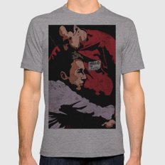 Hello I'm Bob/ fight club/ tyler durden Tri-Grey SMALL Mens Fitted Tee