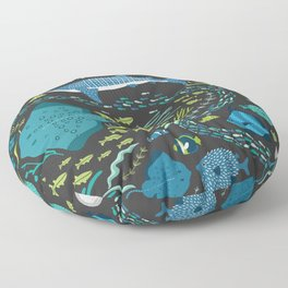 Ocean Life Floor Pillow