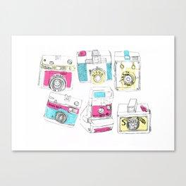 Multiple Camera Print Canvas Print