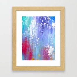 Soft Abstract Framed Art Print