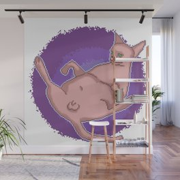 The Swag Pixel Art Penis Cat Has Nothing To Hide Wall Mural