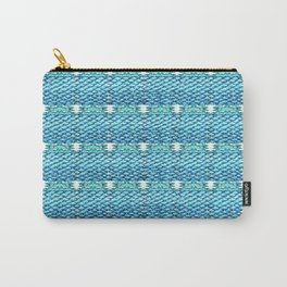 Mermaid Glitch Texture Abstract Carry-All Pouch
