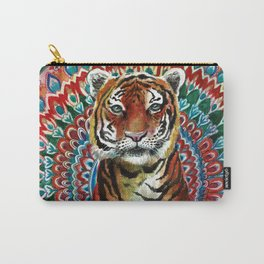 Tiger Watercolor Yoga Mandala Carry-All Pouch