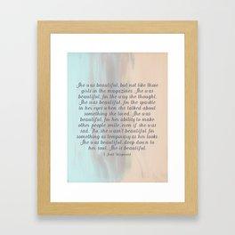 She Was Beautiful By F. Scott Fitzgerald 4 #painting #minimalism #poem Framed Art Print