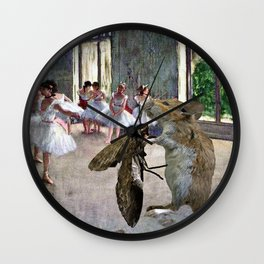 Mouse and Moth Cotillion Wall Clock