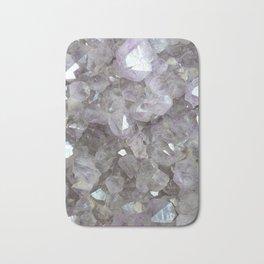 Sparkling Clear Light Purple Amethyst Crystal Stone Bath Mat