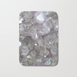 Sparkling Clear Light Purple Amethyst Crystal Stone Bath Mat