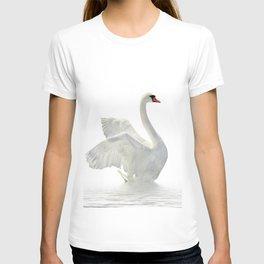 WHITE ON WHITE-BEAUTIFUL SWAN T-shirt