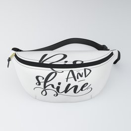 RISE AND SHINE, Bedroom Decor, Bedroom Sign, Teens Room Decor,Motivational Poster,Inspirational Quot Fanny Pack