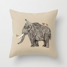 TUSK Throw Pillow