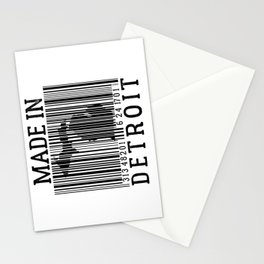 MADE IN DETROIT Bar Code Stationery Cards