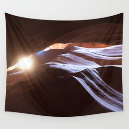 Sun Overhead in Lower Antelope Canyon, Arizona Wall Tapestry