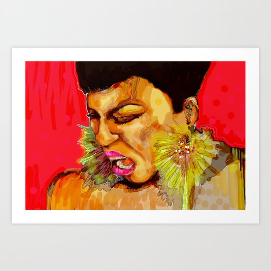 At the top of my lungs Art Print