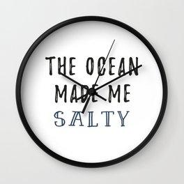 Salty Ocean Wall Clock