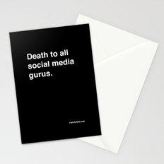 death to all social media gurus Stationery Cards