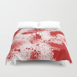 Bloody Blood Spatter Halloween Duvet Cover