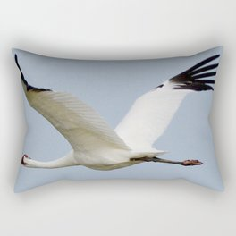 Whooping Crane on the Wing Rectangular Pillow
