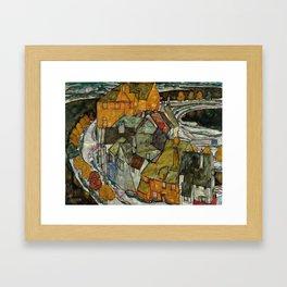 "Egon Schiele ""Crescent of Houses II (Island Town)"" Framed Art Print"