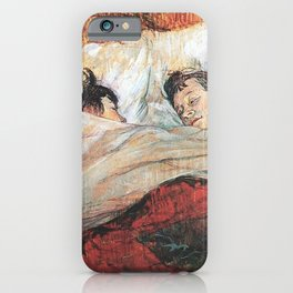 THE BED - HENRI DE TOULOUSE LAUTREC  iPhone Case