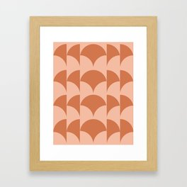Cleo Pattern - Sunset Framed Art Print