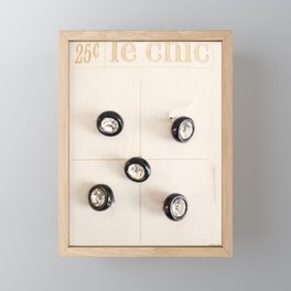 le chic for 25 cents Framed Mini Art Print