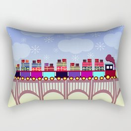 A train with Christmas gifts Rectangular Pillow