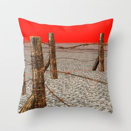 SquaRed: No Country For Musicman Throw Pillow