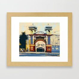 Luna Park in St.Kilda Framed Art Print