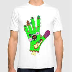 Zombie hand White MEDIUM Mens Fitted Tee