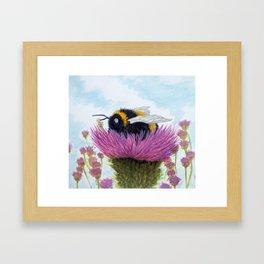 Bumblebee on a Thistle Framed Art Print