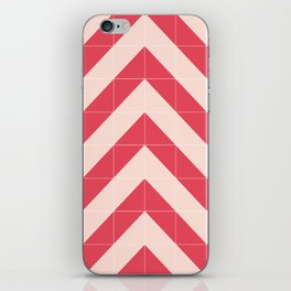 Red Tiled Chevron iPhone Skin