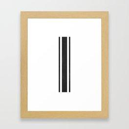 Grain Sack Stripe (Black) Framed Art Print