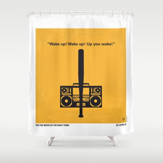 No179 My Do the right thing minimal movie poster Shower Curtain