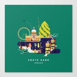 South Bank, London Canvas Print